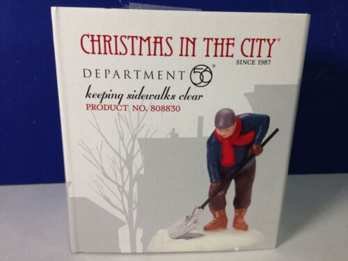 Dept 56 CIC Christmas in the City KEEPING SIDEWALKS CLEAR 808830 Brand New RARE!