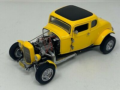 1:24 Franklin Mint American Graffiti '32 Ford Deuce Coupe Hot Rod Yellow B11YZ88 32 Ford Coupe Hot Rod