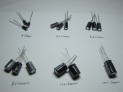 28 Values 140pcs Dip Electrolytic Capacitors Assortment Kit 0.1uf2200uf