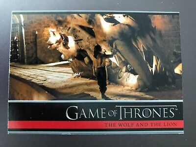 Game of Thrones Season 1 (2012) BASE Trading Card #14 / THE WOLF AND THE LION