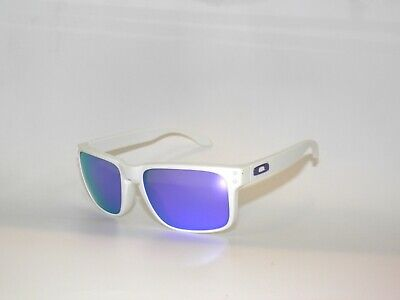 Used, Oakley Holbrook 9102-05 Matte White Violet Iridium Sunglasses Clearance  for sale  Shipping to India