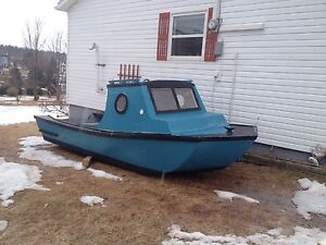 Trout fishing boat