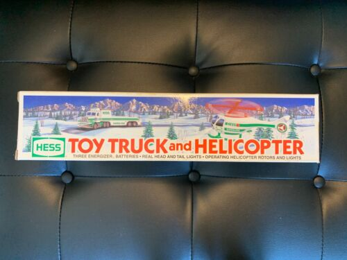 1995 HESS Toy Truck and Helicopter NEW In Box.