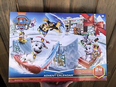 """Nickelodeon Paw Patrol Advent Calendar - 24 Exclusive Gifts """"NEW"""""""