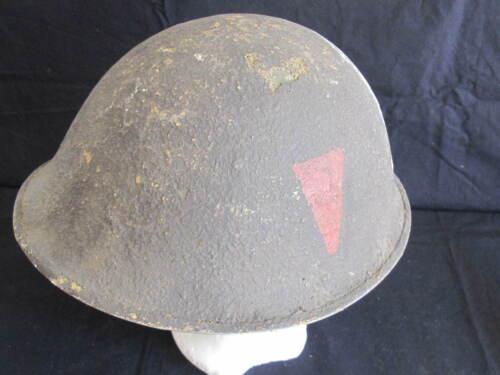 Military British Turtle Helmet with Original Divisional Flash*