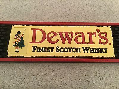 DEWARS ~ Finest Scotch Spill Rubber Bar Drink Mat ~ Used