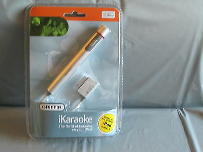 NEW & SEALED Griffin iKaraoke Microphone for iPod MINI/ CLASSIC/ NANO/ 5TH GEN.