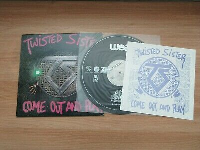 TWISTED SISTER COME OUT AND PLAY 7 Tracks 1986 Korea Vinyl LP Insert NM