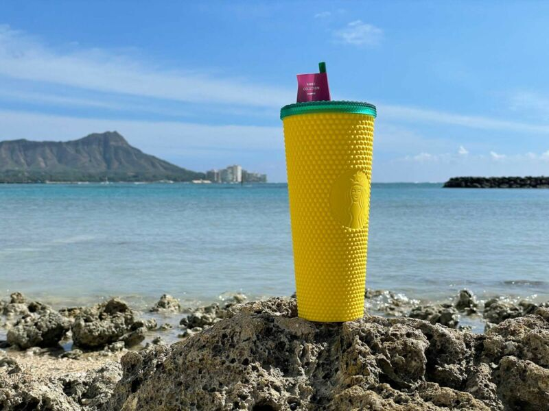 Starbucks Hawaii Tumbler Studded Pineapple Exclusive 2020 Matte🍍 NEW Yellow Cup