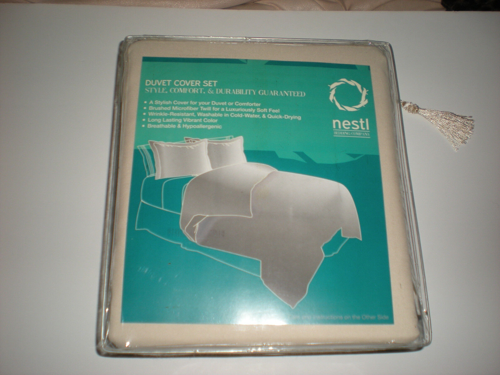 Nestl Bedding Duvet Cover & Pillow Shams 3 Piece Set Cream C