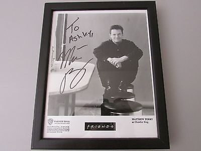 Matthew Perry Promotional Friends Warner Bros. Photograph With Autograph 1995