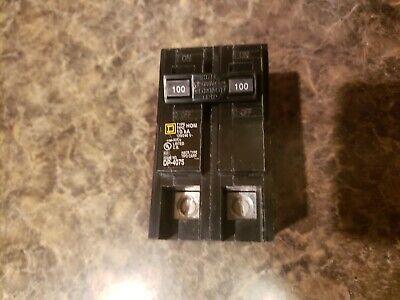 New Circuit Breaker Homeline Square D Hom2100c 2 Pole 100 Amp 120240v Brand New