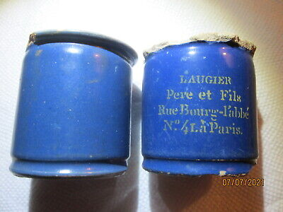 ANTIQUE FRENCH ROUGE POTS DUG IN NEW ORLEANS  1850-60  (Lot of 2)