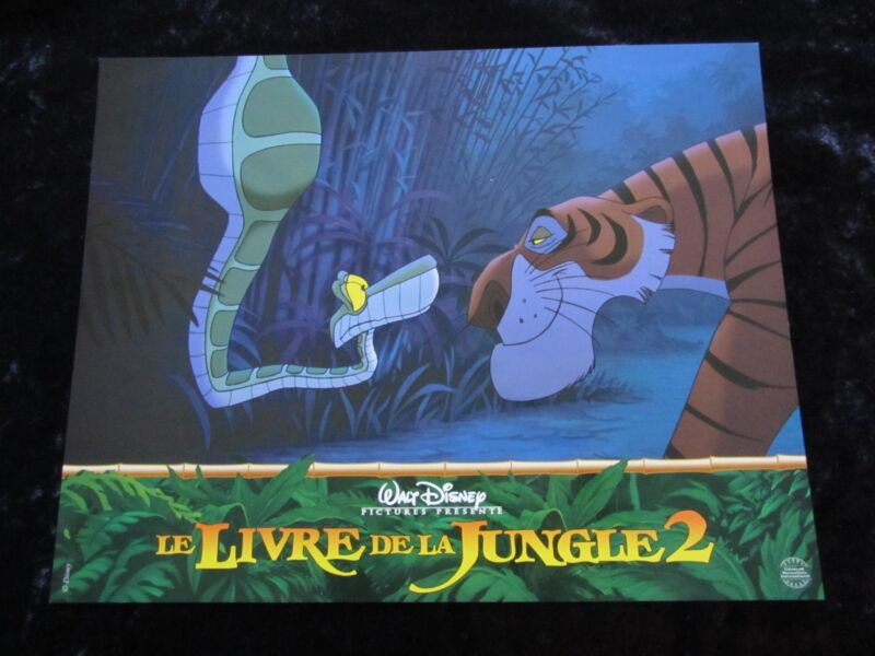 THE JUNGLE BOOK lobby cards WALT DISNEY  French set of 8 stills JUNGLE BOOK 2