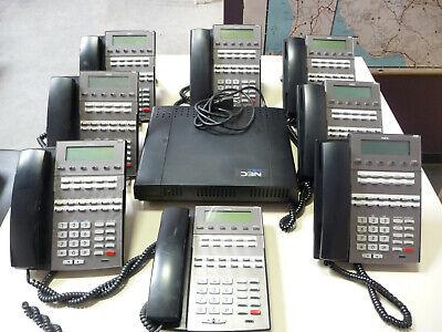 Nec Dsx-40 Key Telephone System Dx7na-40m Main Equipment W 8 Nec Dsc Phones