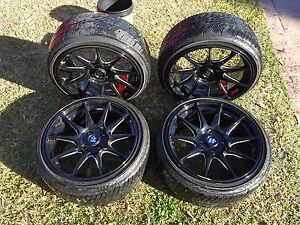 "4x hussla 17"" rims and sub Moorebank Liverpool Area Preview"