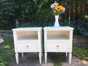 Pair of taller French country night stands