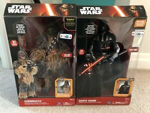 Darth Vader and Chewbacca animatronic figures