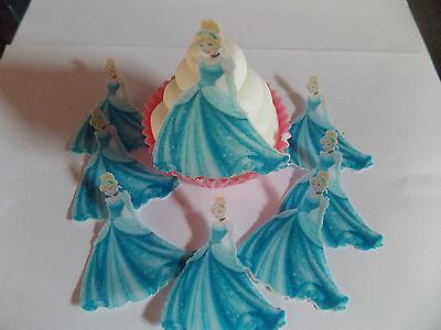 12 **PRECUT** Cinderella Edible Butterflies cake/cupcake toppers
