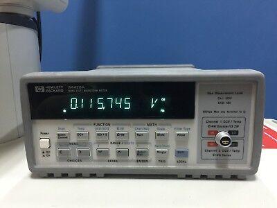 Hp 34420a Nano Volt Micro Ohm Meter 7.5 Digit