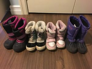 Girls winter boots sizes 13 & 1