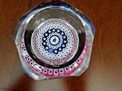 LMT ED WHITEFRIARS England LIBERTY BELL Millefiori Faceted Art Glass Paperweight segunda mano  Embacar hacia Argentina