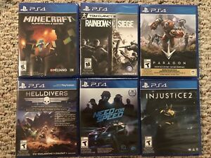 PS4 games for sale. New and sealed.