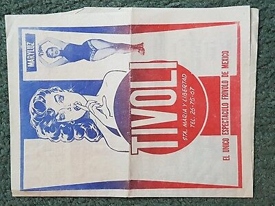 Vintage poster - A3 folded - Tivoli Gentlemen's Club in Mexico 1950s