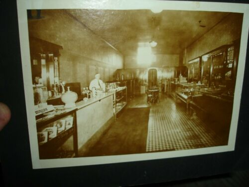 Old antique 1920 Denby Cigars Eversharp Pen Clocks Camera Candy soda Shop PHOTO