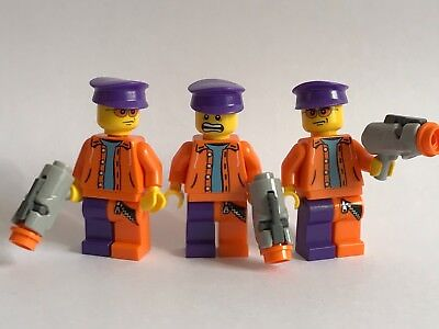 original LEGO parts - 3 joker's HENCHMAN - batman theme grey guns - custom idea (Themed Ideas)