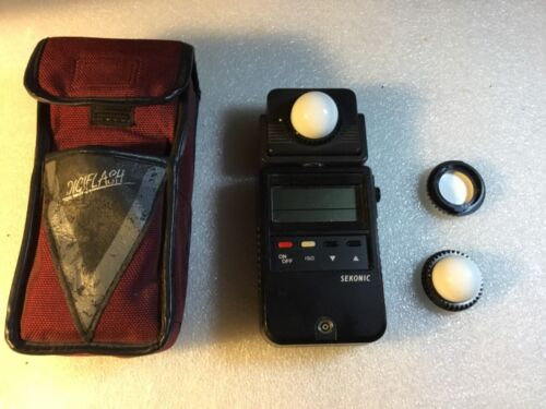 Sekonic L-458 DigiFlash Light Meter  Bag and extras