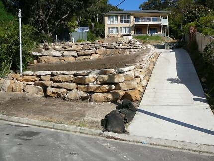Rock Retaining Walls - Central Coast and Newcastle