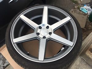 20 inch stance rims with almost new tires