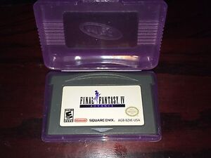 Gameboy advance GBA Final fantasy IV 4 authentic cartridge