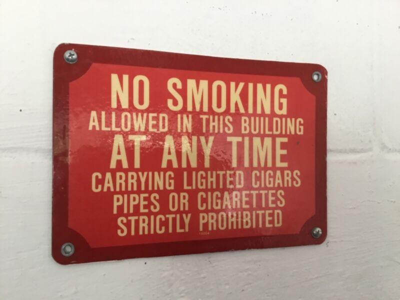 VINTAGE NO SMOKING SIGN -NOVELTY/DECORATION, NO LIGHTED CIGARS,PIPES,CIGARETTES