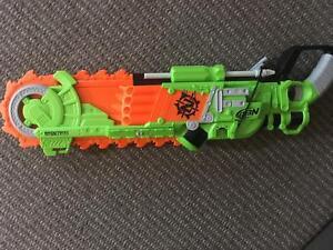 Nerd zombie chainsaw gun