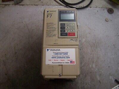 Yaskawa Varispeed F7 Ac Drive 480 Vac 3 Phase 15.0 Amp Cimr-f7u45p5