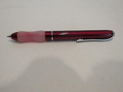Ballpoint Pen Metal Pen - TERZETTI JELLY GRIP RED FAT BALLPOINT PEN-METAL BODY IDEAL FOR HAND FATIGUE