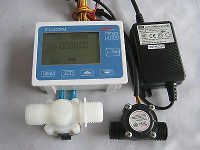 G12 Water Flow Control Lcd Display Solenoid Valveflow Sensorpower Adapter