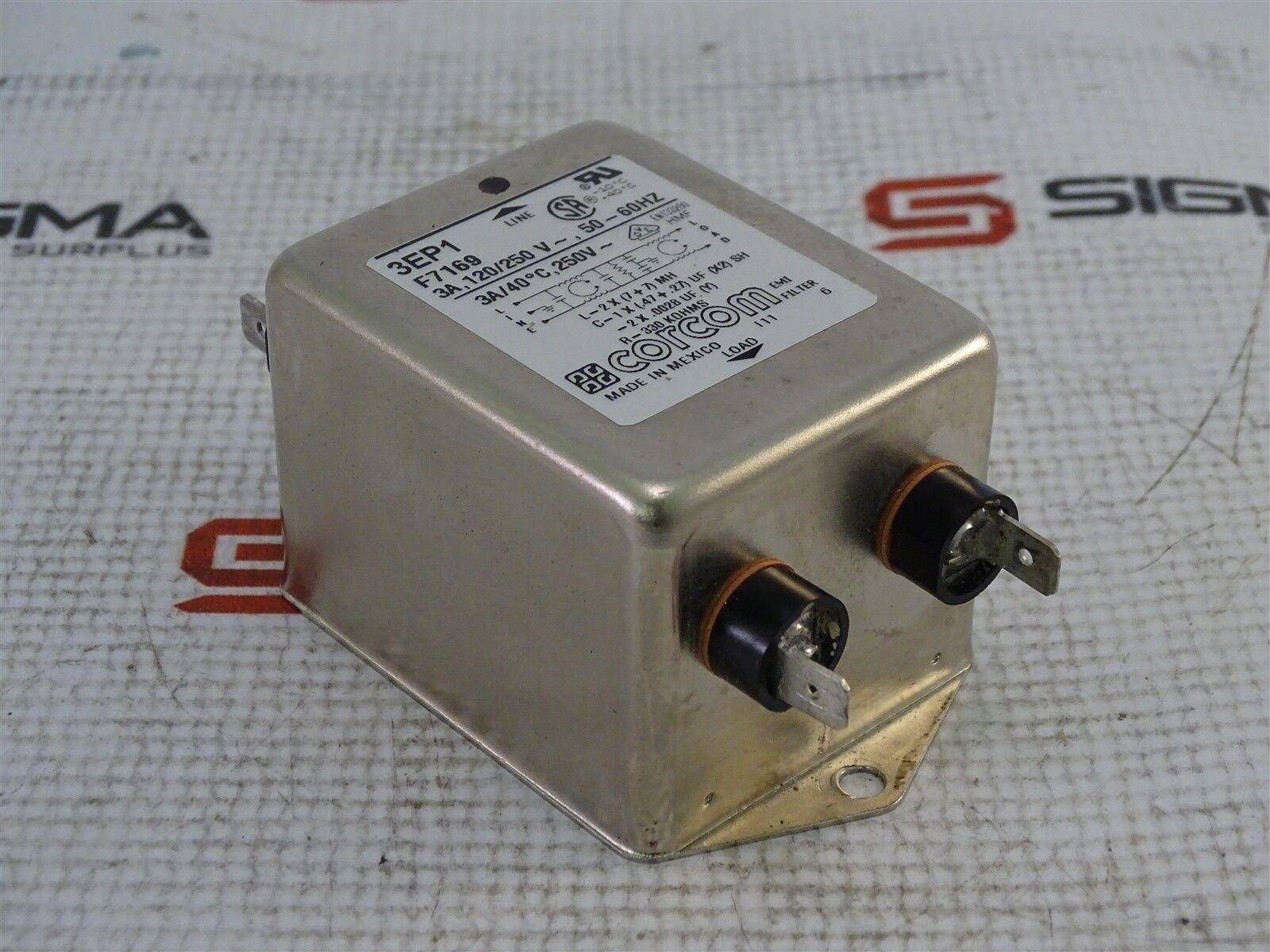 Corcom 3EP1 F7169 EMI Filter 3A 120/250V 60/60Hz
