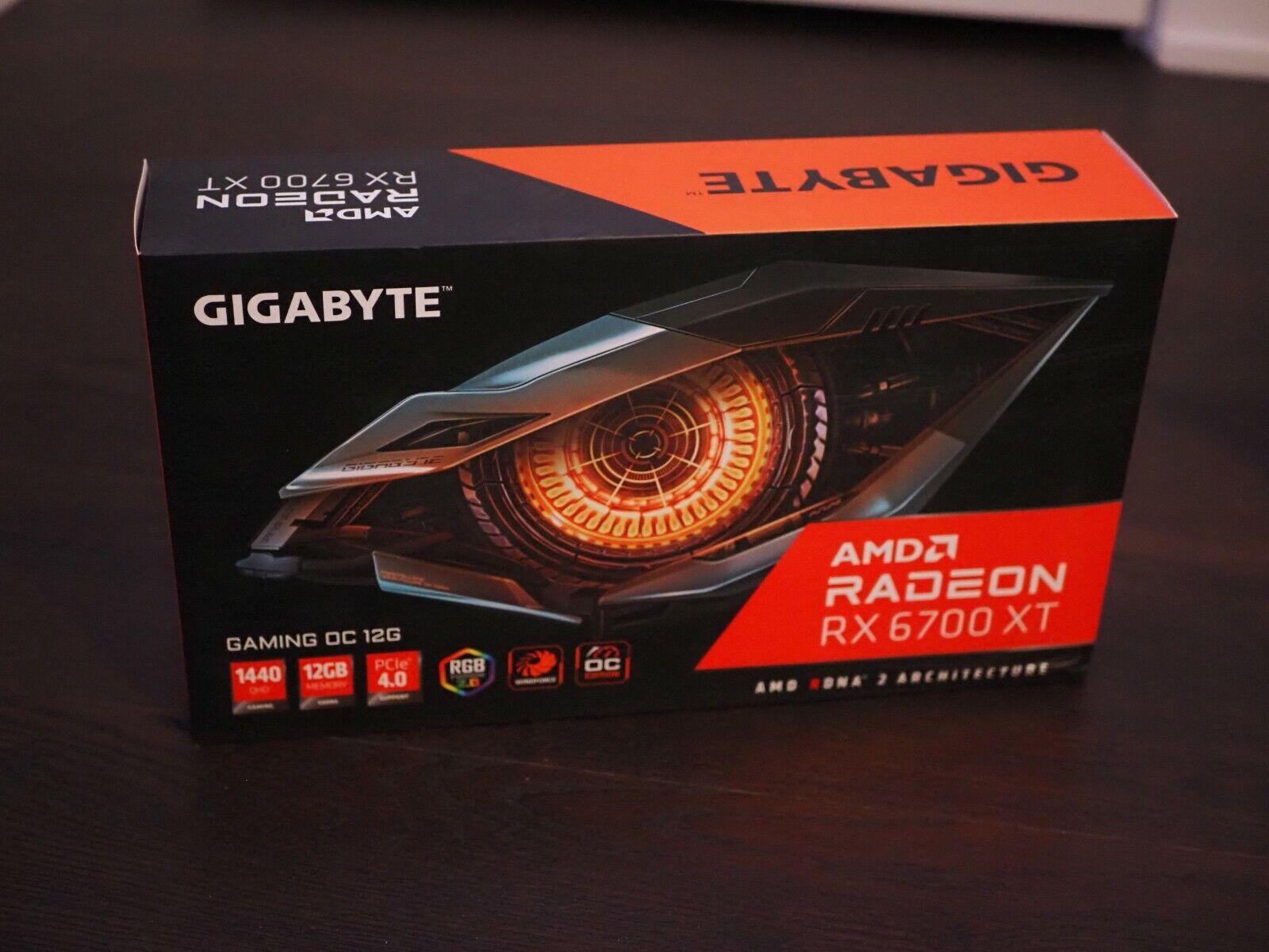Gigabyte Radeon RX 6700 XT Gaming OC 12G Graphics Card - Brand New - $1,024.99