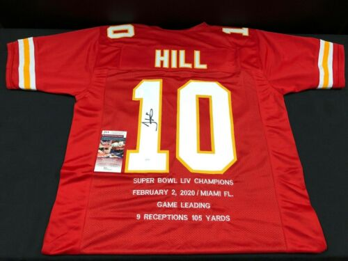 Tyreek Hill Kansas City Chiefs Signed Custom Jersey Super Bowl Stats Jsa Coa