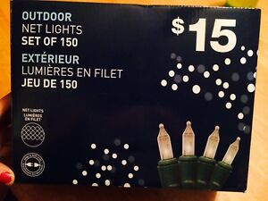 Outdoor Net Lights - Brand New unopened box of 150!