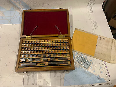 Jit Fed Grade B Precision 81 Piece Gage Block Set With Wood Case.