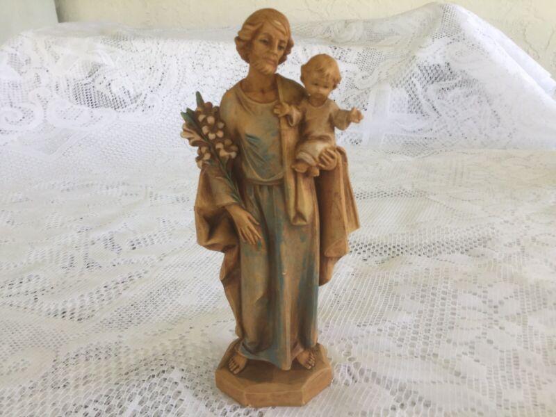 "Vintage 1985 Fontanini St Joseph Holding Baby Jesus #657 Simonelli Italy 6.5"""