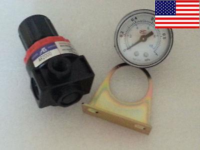 Air Control Compressor Pressure Relief Regulator Valve Gauge Ar2000 Us Seller