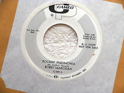 Bobby Marchan Rockin Pneumonia Near Mint Promo Cameo Someone To Take   Soul 45