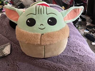 "Squishmallow 10"" Star Wars The Child Grogu Baby Yoda Mandalorian Soft Plush"