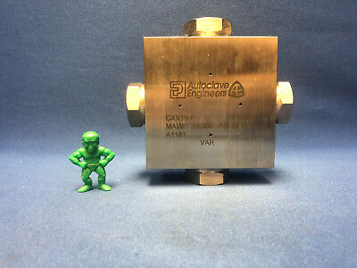 Parker Autoclave Cxx16-k 1 Medium Pressure Cross Fitting Mawp 20000 Psi