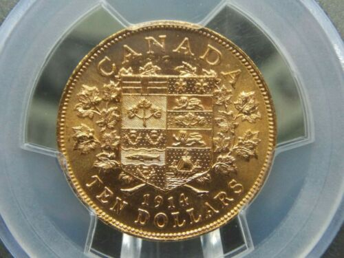 1914 $10 Canada Gold Reserve PCGS MS63 East Coast Coin & Collectables, Inc.